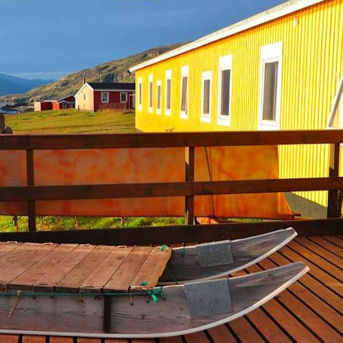 the Leif Eriksson Hostel in Qassiarsuk (Greenland)